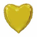 Kæmpe Hjerte folieballon Guld 92 cm Hjerte Balloner