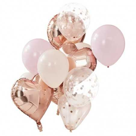 Ballon Mix - Rose Guld og Lyserøde - 1030
