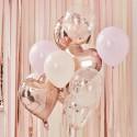 Ballon Mix - Rose Guld og Lyserøde Ballon Mix