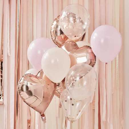 Ballon Mix - Rose Guld og Lyserøde - 1031