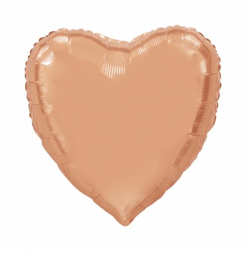 Kæmpe Hjerte folieballon Rose 92 cm