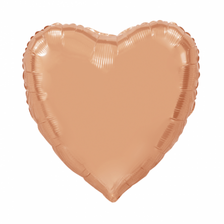 Kæmpe Hjerte folieballon Rose 92 cm - 104