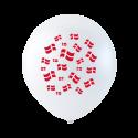 Balloner med flag 10 stk. Fødselsdag