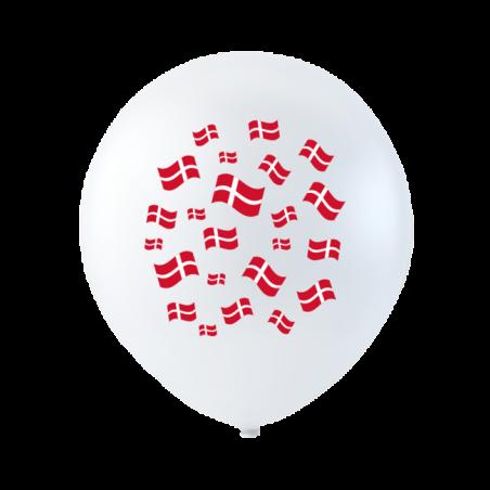 Balloner med flag 10 stk. - 193