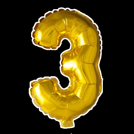 Kæmpe talballon Guld - 239