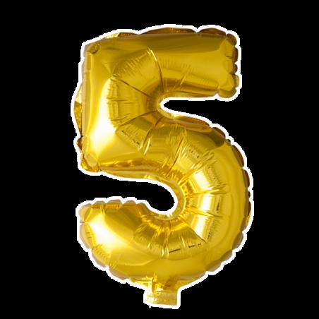 Kæmpe talballon Guld - 241