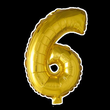 Kæmpe talballon Guld - 242