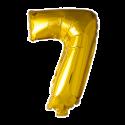 Kæmpe talballon Guld Folie Tal Balloner