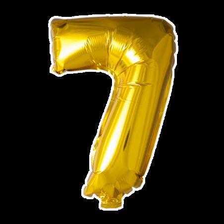 Kæmpe talballon Guld - 243