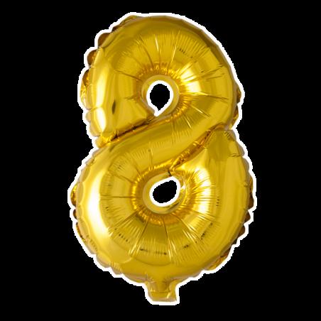 Kæmpe talballon Guld - 244