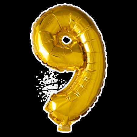 Kæmpe talballon Guld - 245
