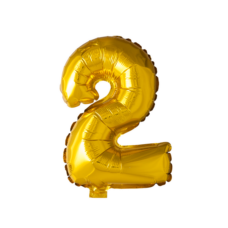 Kæmpe talballon Guld