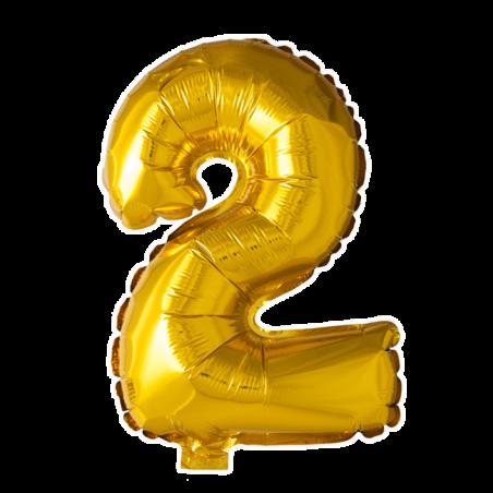 Kæmpe talballon Guld - 247