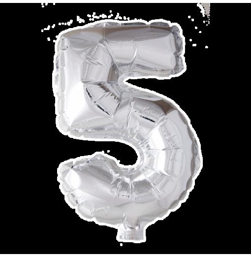 Kæmpe talballon Sølv