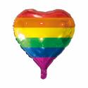 Regnbue folie ballon Hjerte Balloner