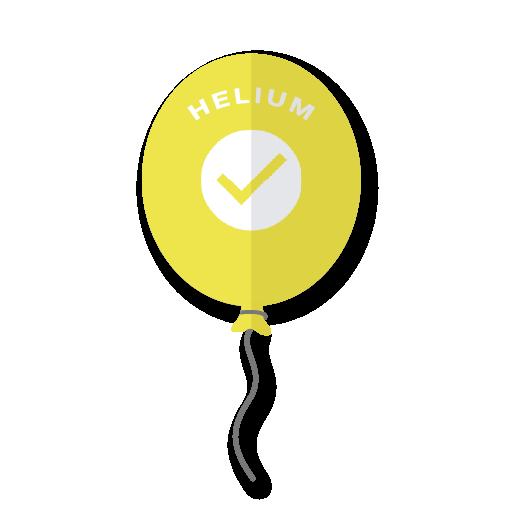 Helium ballongas til 50 balloner - 414 liter mellem Helium
