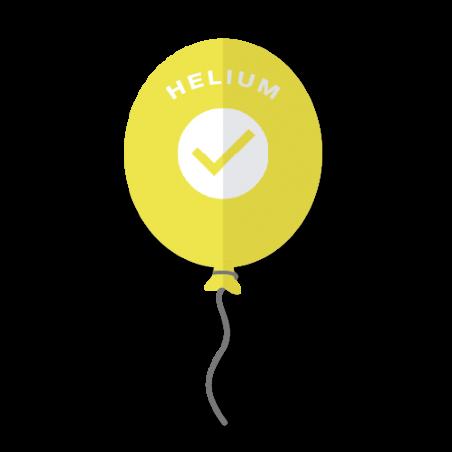 Helium ballongas til 50 balloner - 414 liter mellem - 307