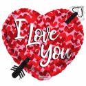 I Love You folieballon - hjerter Hjerte Balloner