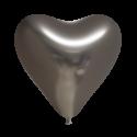"""Hjerteballoner 12"""" chrome 100 stk Hjerte Balloner"""
