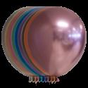 """Chrome 12"""" / 30 cm balloner - 10 stk Balloner"""