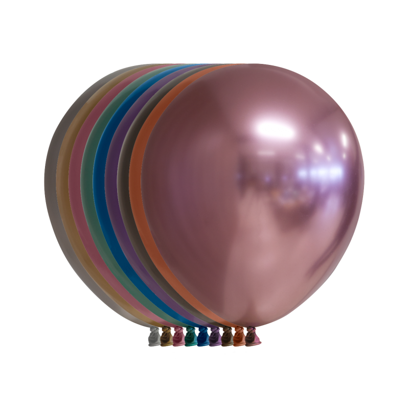 """Chrome 12"""" / 30 cm balloner - 10 stk"""