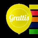 """""""Grattis"""" balloner 10'' 10 stk Fødselsdag"""