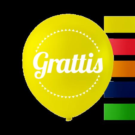 """""""Grattis"""" balloner 10'' 10 stk - 653"""
