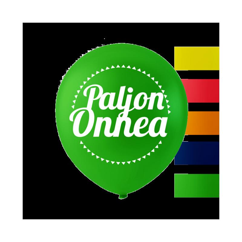 """""""Paljon Onnea"""" balloner 10'' 10 stk"""