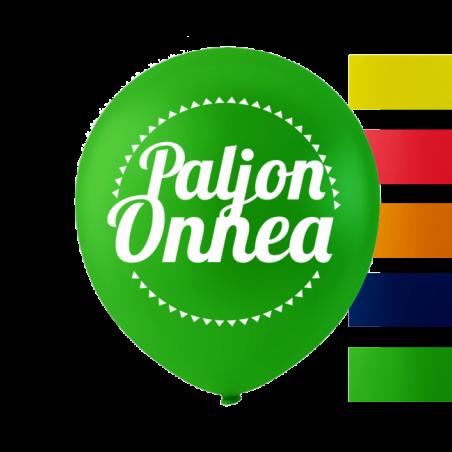 """""""Paljon Onnea"""" balloner 10'' 10 stk - 657"""