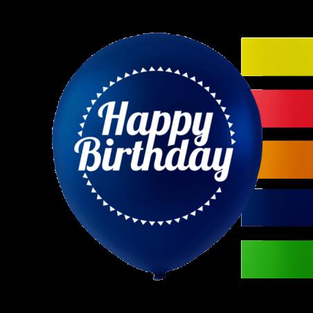 """""""Happy Birthday"""" balloner 10'' 10 stk - 659"""