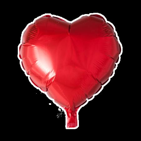 """Hjerte ballon i folie 18"""" - 666"""