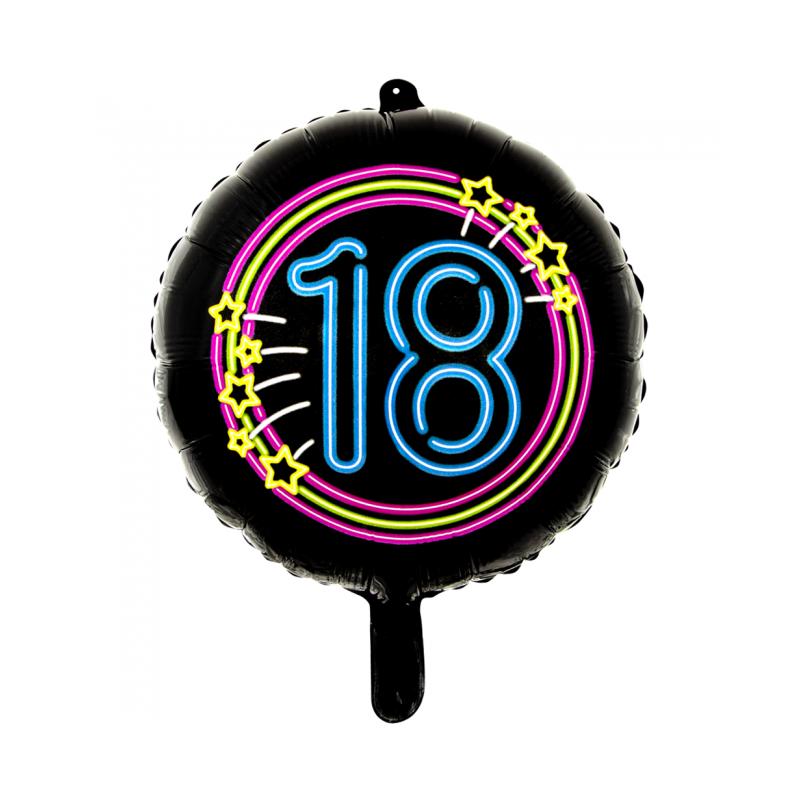 "Sort neon folie ballon 18"""