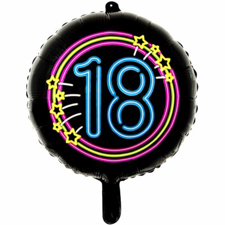 "Sort neon folie ballon 18"" - 688"