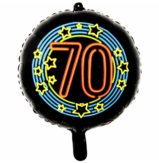 Sort neon folie ballon 18""