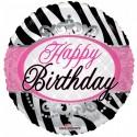 """Happy birthday 18"""" zebra striber Fødselsdag"""