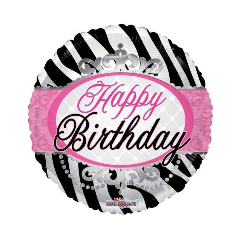 """Happy birthday 18"""" zebra striber"""