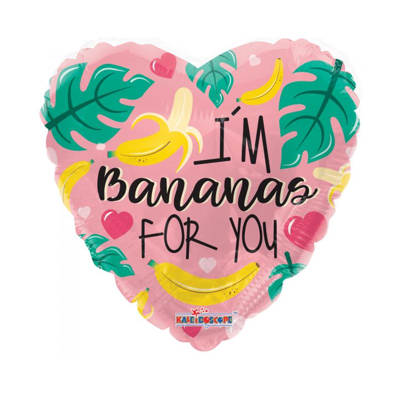 """I'm bananas for you 18"""" Hjerte Balloner"""