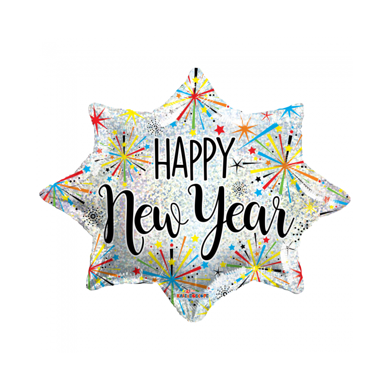 "Happy new year 18"" Folie balloner"