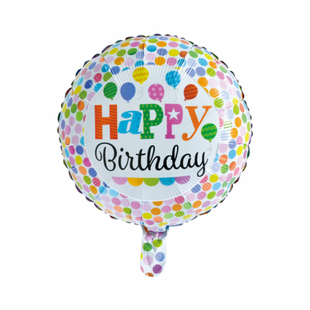 "Happy Birthday 18"" dots - 704"