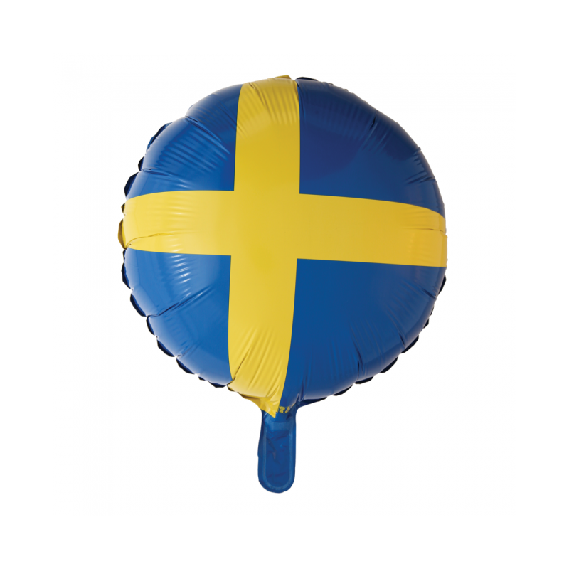 """Svensk flag 18"""" Fødselsdag"""