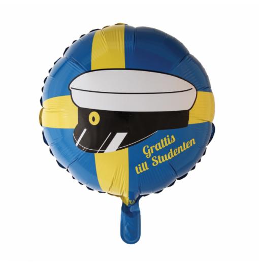 "Grattis till studenten 18"" Folie balloner"