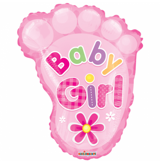 "Baby fod pige 18"" Folie balloner"