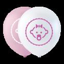 """Datter ballon pink 10"""" Balloner med print"""