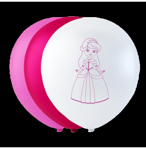 """Prinsesse balloner 10"""" Balloner med print"""