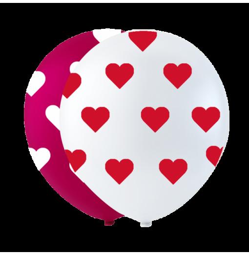 """Små hjerte balloner 10"""""""