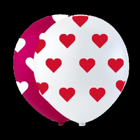 """Små hjerte balloner 10"""" - 733"""