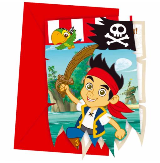 Invitationer med Jake og piraterne Invitationer