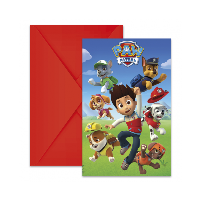 Invitationer med Paw Patrol