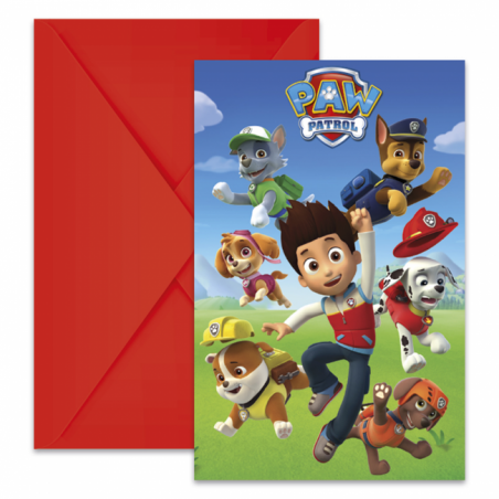 Invitationer med Paw Patrol - 761