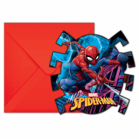 Invitationer med Spiderman - 763